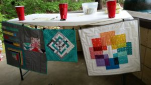 Mini Quilts at the Peninsula Modern Quilt Guild Picnic